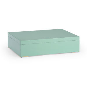 Granville Mint Green 19-Inch Decorative Box