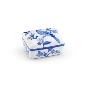 Blue and White Bird Decorative Box