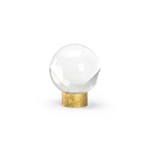 Clear Crystal Ball On Stand