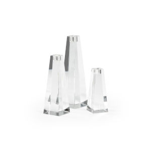 Pyramid Clear Pyramid Candle Holder