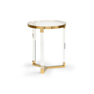 Moravian Polished Brass 19-Inch Side Table