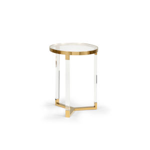 Moravian Polished Brass 15-Inch Side Table