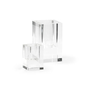 Clear 10-Inch Candle Holder