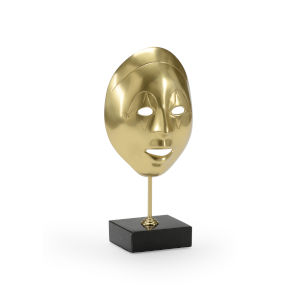 Polished Brass Venetian Mask