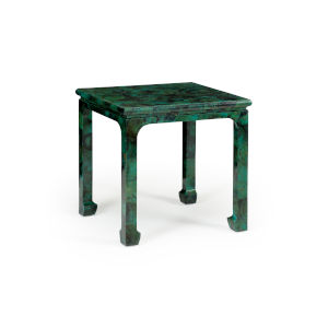 Green and Black Malachite Side Table Side Table