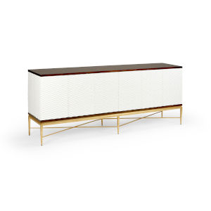 James White and Walnut Sideboard