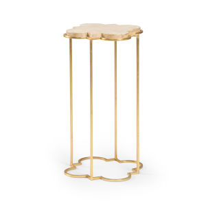 Bristol Antique Gold Drink Table