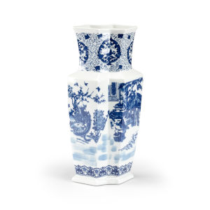 Yuan Blue and White Double Vase