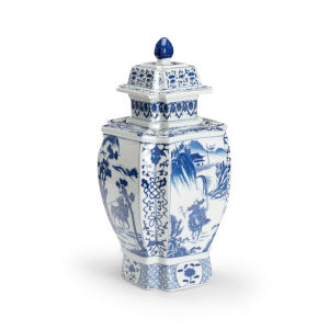 Blue and White Jin Dynasty Covered Urn