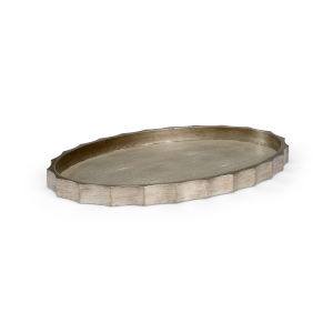 Eclipse Antique Silver and Gray Tray