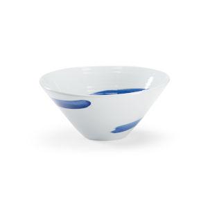 Essex Cobalt Blue and White Decorative Bowl