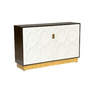 Ponzio Dark Brown and Cream Cabinet