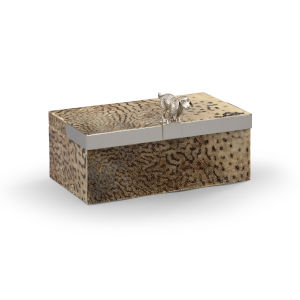 Duke Natural and Silver Decorative Box