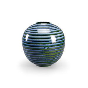 Blue 13-Inch Swirl Vase