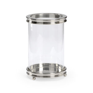 Nickel Nine-Inch Candle Holder