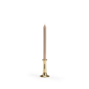 Thames Polished Brass Candle Holder