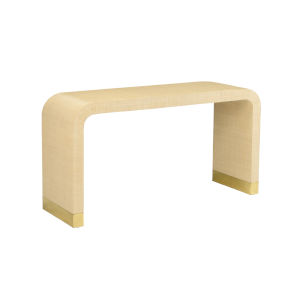 Cream Waterfall Console Table