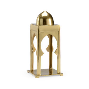 Morocco Antique Brass Scalloped Lantern