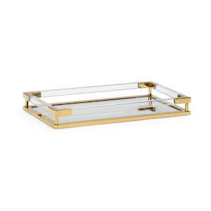 Antique Brass 20-Inch Tray