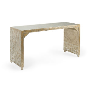 Hong Kong Antique Gold and Silver Coffee Table