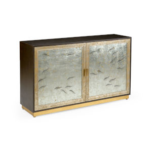Gold and Silver Chinoiserie Cabinet Fish Cabinet
