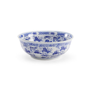 Blue and White Decorative Bowl
