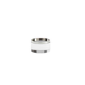 Nickel Four-Inch Round Crystal Plinth
