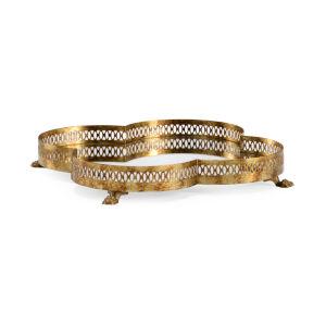 Quantrafoil Brass 14-Inch Tray