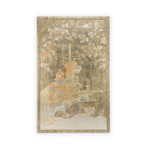 Brown Chinoiserie Panel Left Wall Art