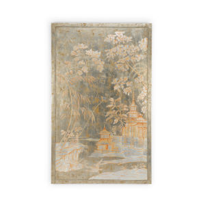 Brown Chinoiserie Panel Right Wall Art