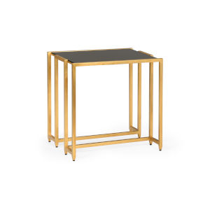 Highland Antique Gold and Black Side Table