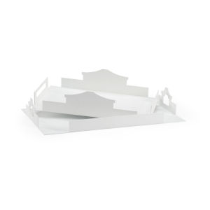 White 24-Inch Temple Trays