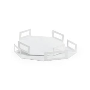 White Octagon Trays