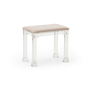 Madison Clear and Gray 20-Inch Bench