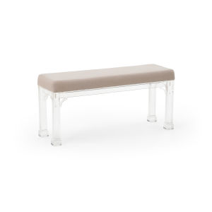 Madison Clear and Gray Bench