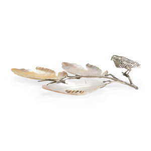 Silver Bird and Shell Tray