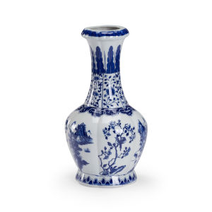 Lexus Blue and White Eight-Inch Vase