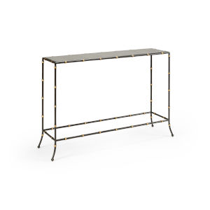 Saigon Espresso and Gold Console Table