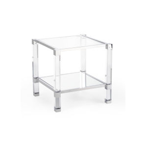 Vancouver Clear and Nickel Side Table