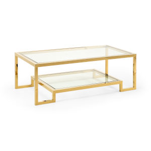 Dasher Antique Brass Cocktail Table