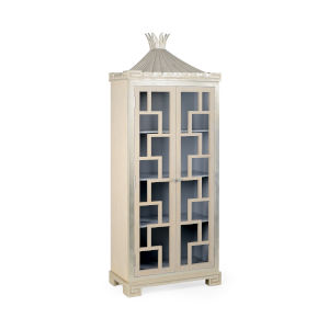 Gray and Silver Palm Beach Cabinet