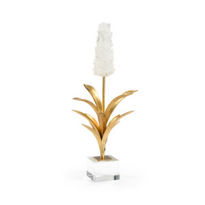 White and Antique Gold Hyacinth