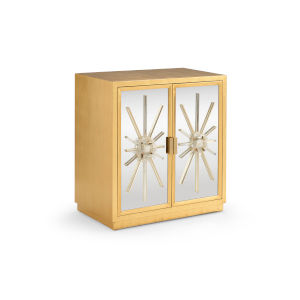 Antique Brass Starburst Cabinet