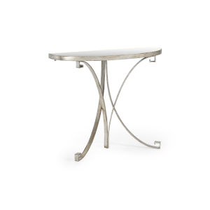Cain Silver Console Table