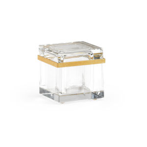 Gold and Clear Crystal Jewel Box