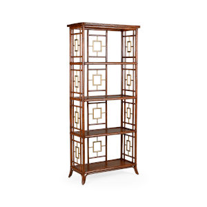 Mecklenburg Brown with Gold Etagere