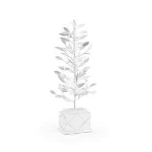 Parisan White Topiary Bush