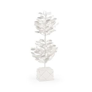 Parisan White Lacquer Topiary Tree