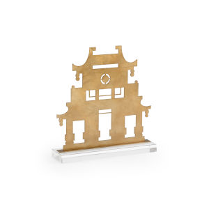Antique Gold 15-Inch Pagoda