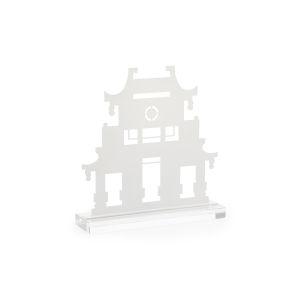 White 15-Inch Pagoda